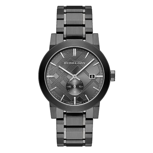 The City Gunmetal Dial Steel Men's Watch