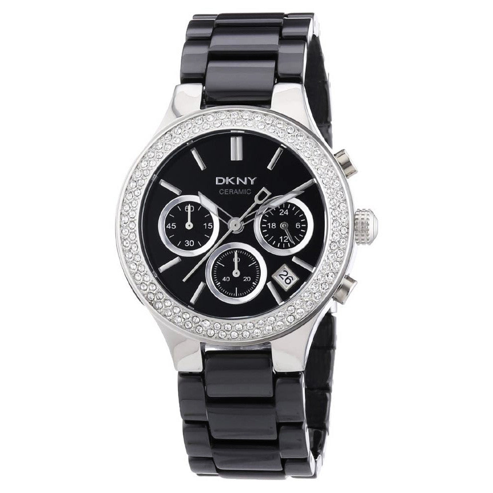 Black Dial Black Ceramic Ladies Watch