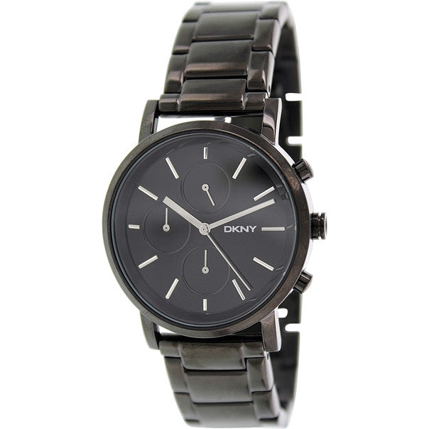 Soho Black Dial Black Ladies Watch