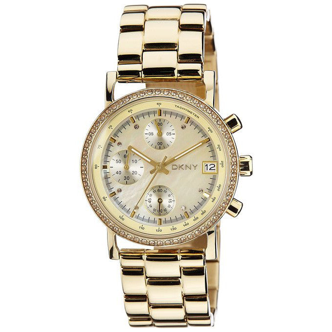 Glitz Gold Tone Chronograph Ladies Watch