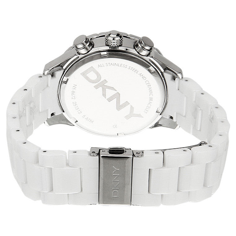 White Ceramic Chronograph Ladies Watch