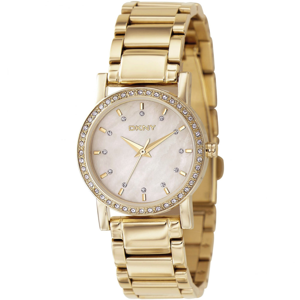 Mother of Pearl Dial Gold-tone Casual Ladies Watch