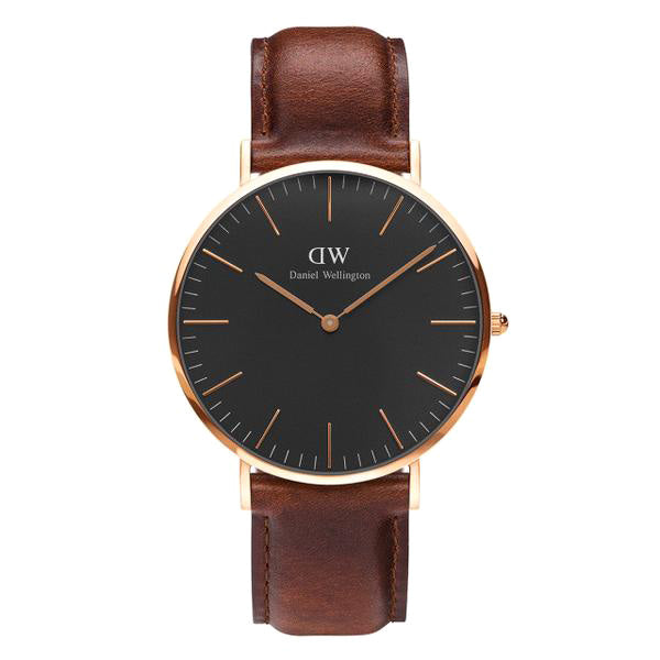 Classic Black St Mawes Rose Gold 40mm Men's Watch
