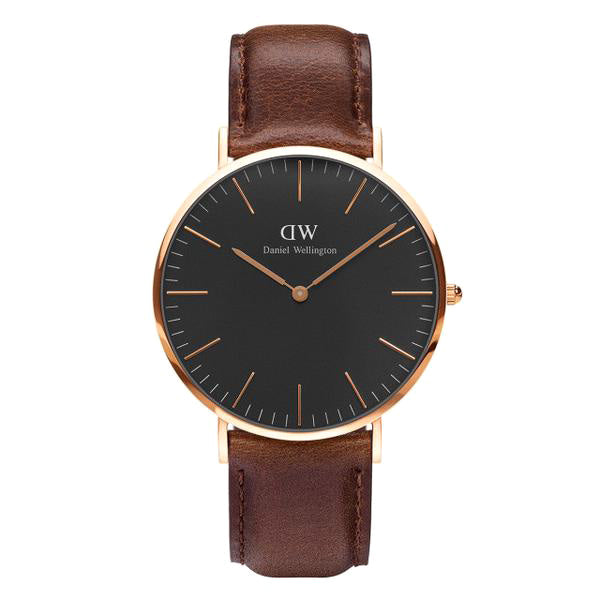 Classic Black Bristol Rose Gold 40mm Men's Watch
