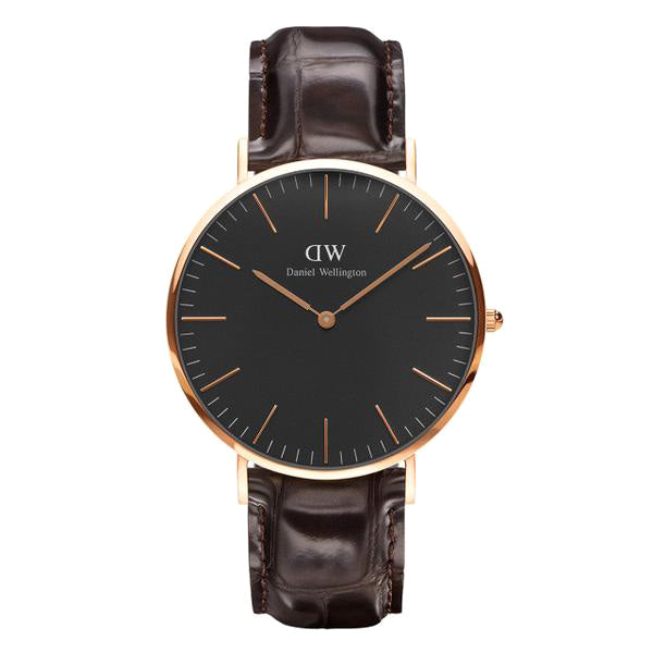Classic Black York Rose Gold 40mm Men's Watch