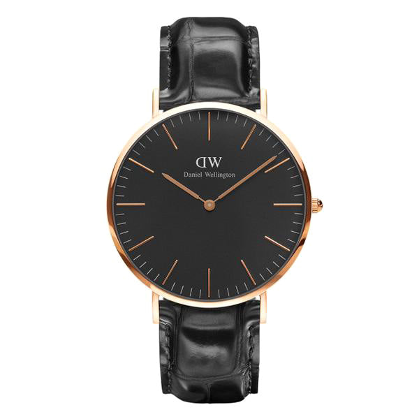 Classic Black Reading Rose Gold 40mm Men's Watch