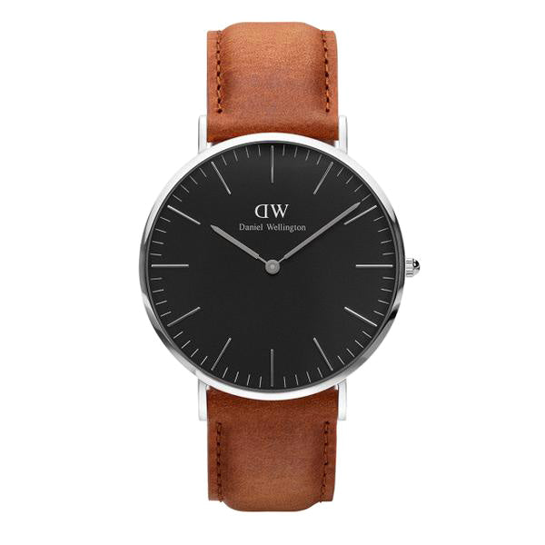 Classic Black Durham Silver 40mm Men's Watch