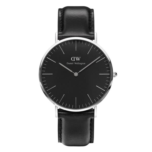 Classic Black Sheffield Silver 40mm Men's Watch