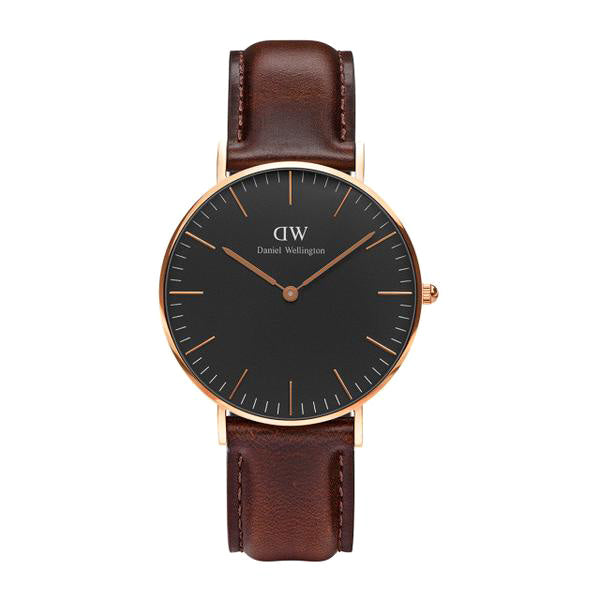 Classic Black Bristol Rose Gold 36mm Ladies Watch