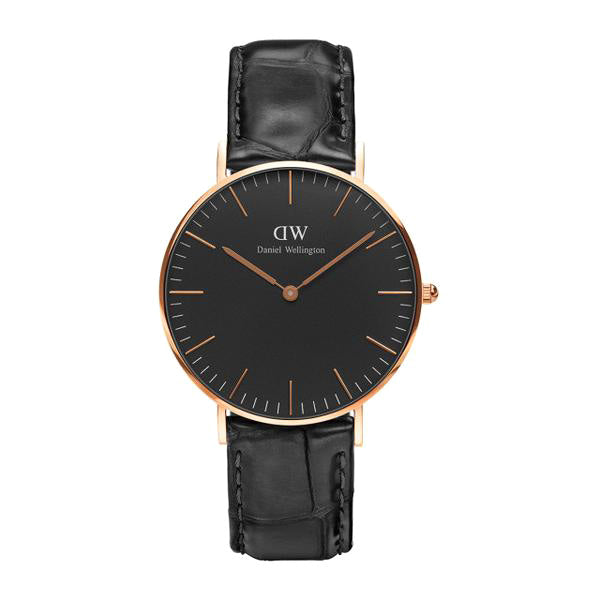 Classic Black Reading Rose Gold 36mm Ladies Watch