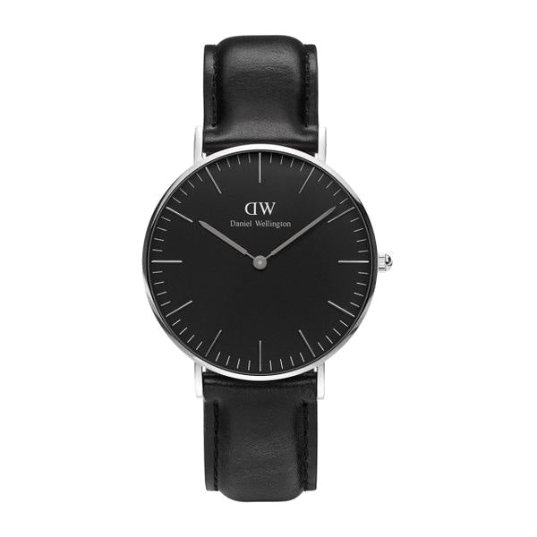 Classic Black Sheffield Silver 36mm Ladies Watch