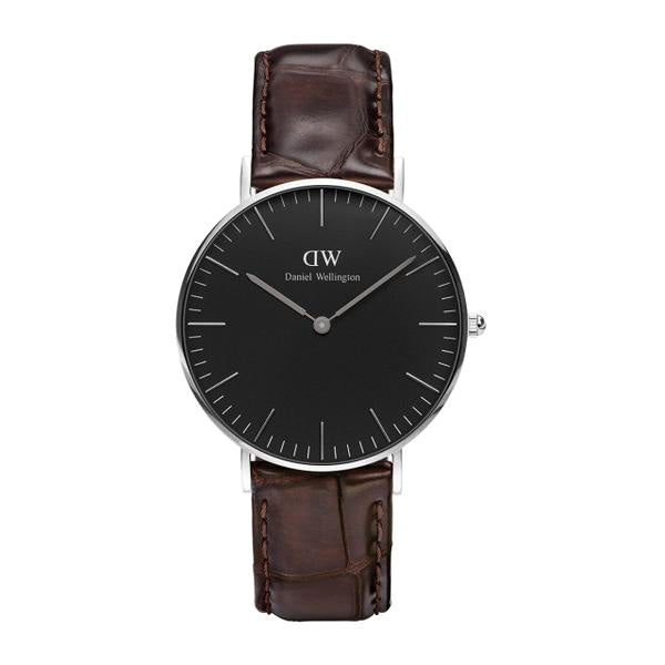 Classic Black York Silver 36mm Ladies Watch