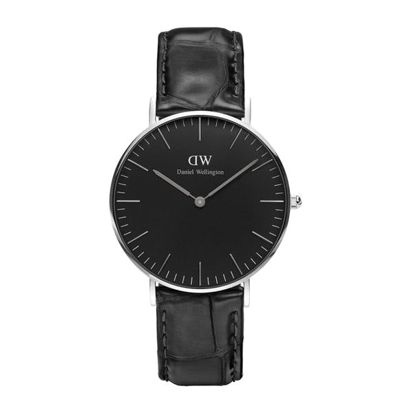 Classic Black Reading Silver 36mm Ladies Watch