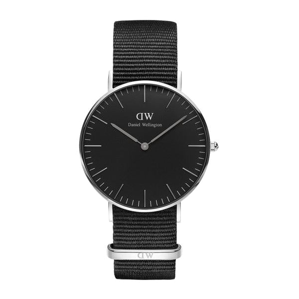 Classic Black Cornwall Silver 36mm Ladies Watch