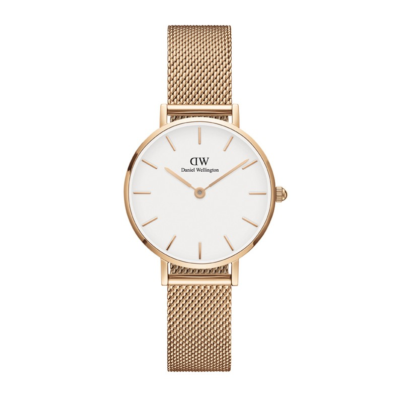 Classic White Petite Melrose Gold 28mm Ladies Watch