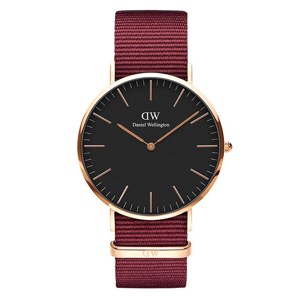 Classic Black Dial Roselyn Rose Gold 40mm Men's Watch