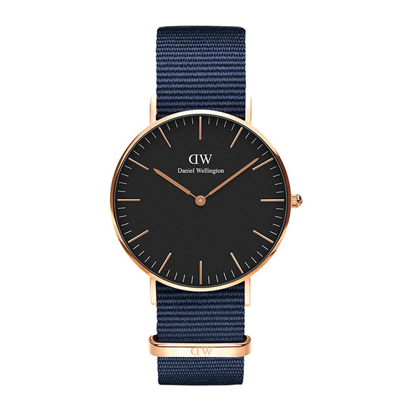 Classic Black Dial Bayswater Rose Gold 36mm Ladies' Watch