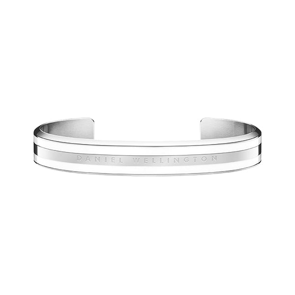 Classic Bracelet Satin White in Stainless Steel Large