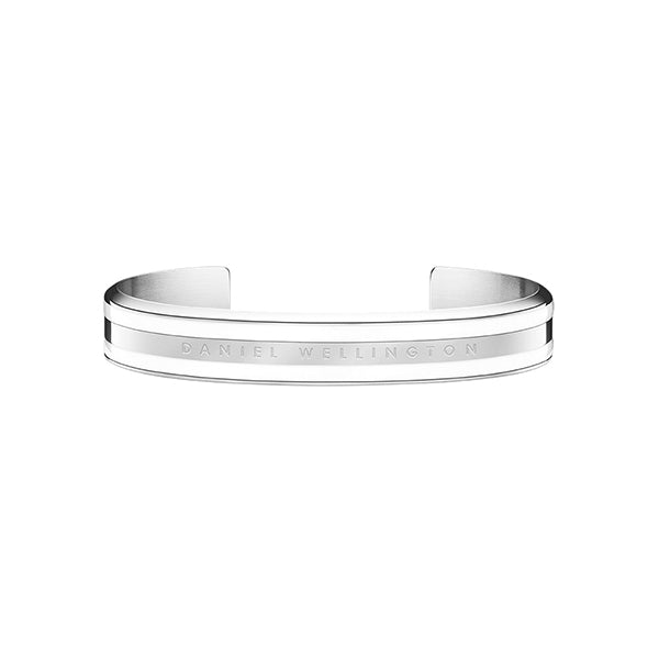 Classic Bracelet Satin White in Stainless Steel Small