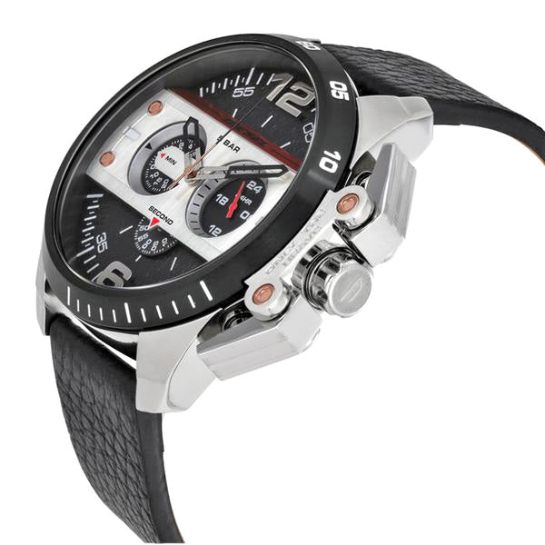 Ironside Chronograph Black Dial Black Leather Men's Watch