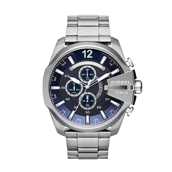 Mega Chief Chronograph Blue Dial Stainless Steel Men's Watch
