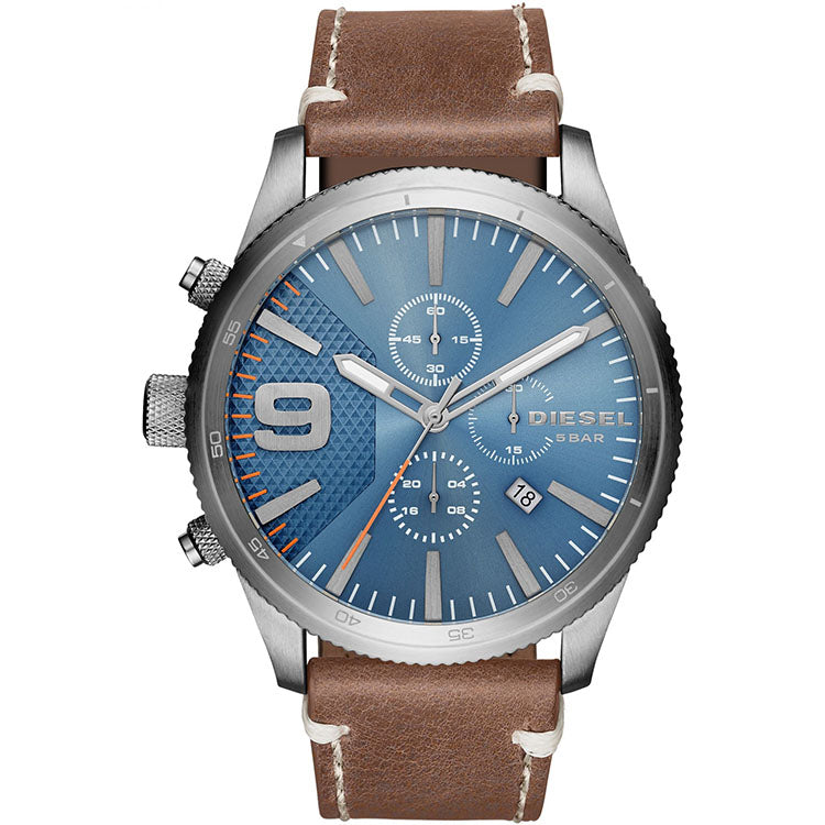 Rasp Chronograph Blue Sunray Dial Men's Watch