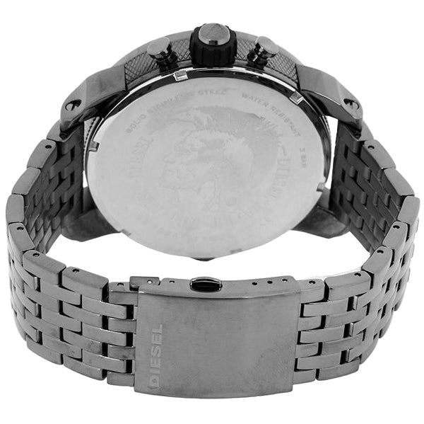 Little Daddy Chronograph Grey Dial Grey Ion-plated Men's Watch