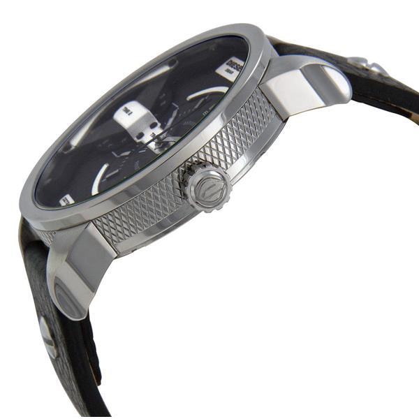 Mini Daddy Black Dial Black Leather Men's Watch
