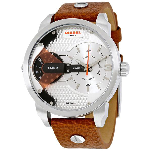 Mini Daddy Silver Dial Brown Leather Men's Watch