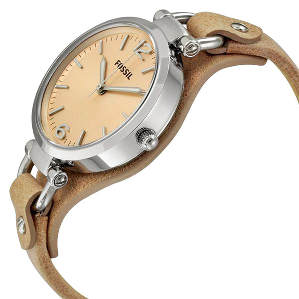 Georgia Beige Dial Sand Tan Leather Ladies Watch