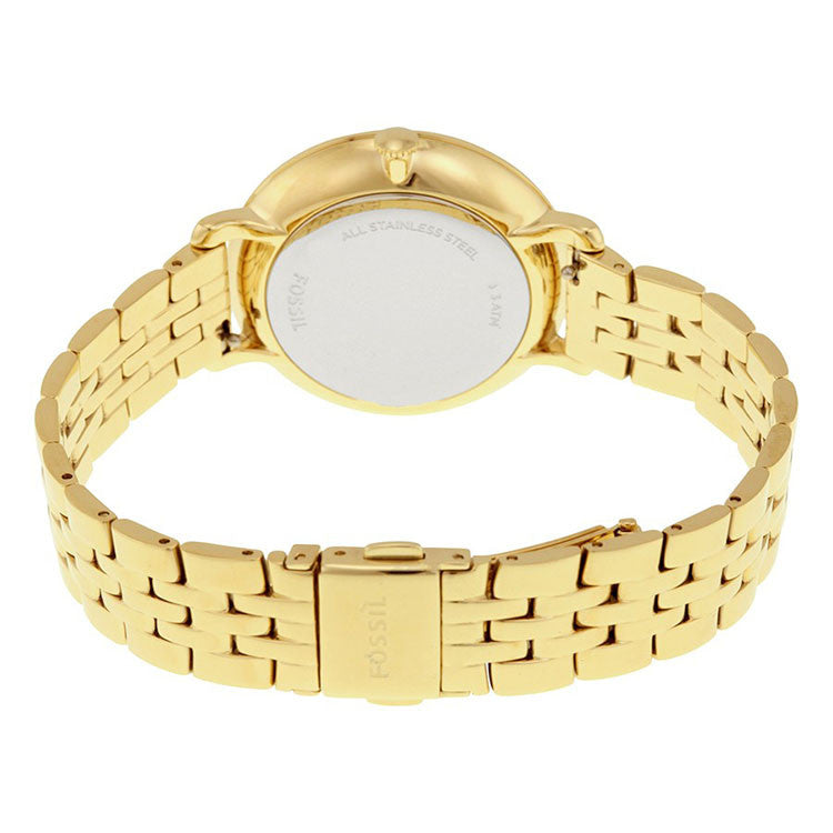 Jacqueline Gold Dial Gold-tone Ladies Watch