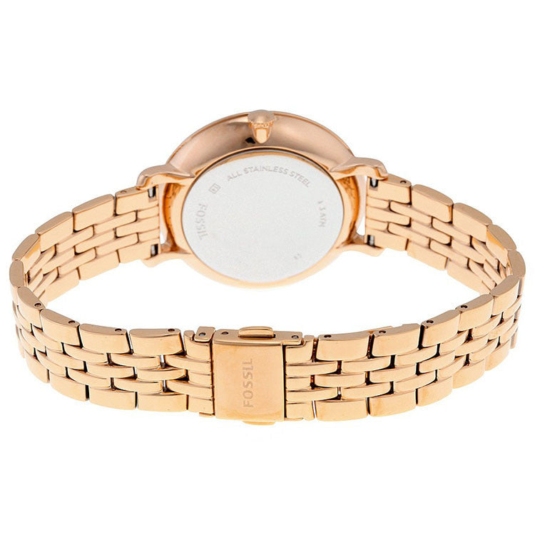 Jacqueline Rose Dial Rose Gold-tone Ladies Watch