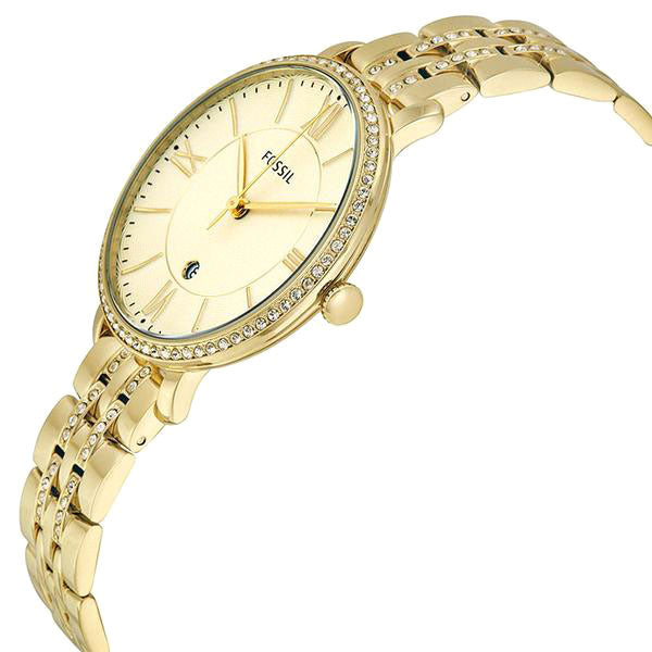 Jacqueline Champagne Dial Gold-tone Ladies Watch