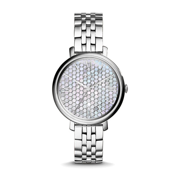 Jacqueline Stainless Steel Mother Of Pearl Dial Ladies Watch