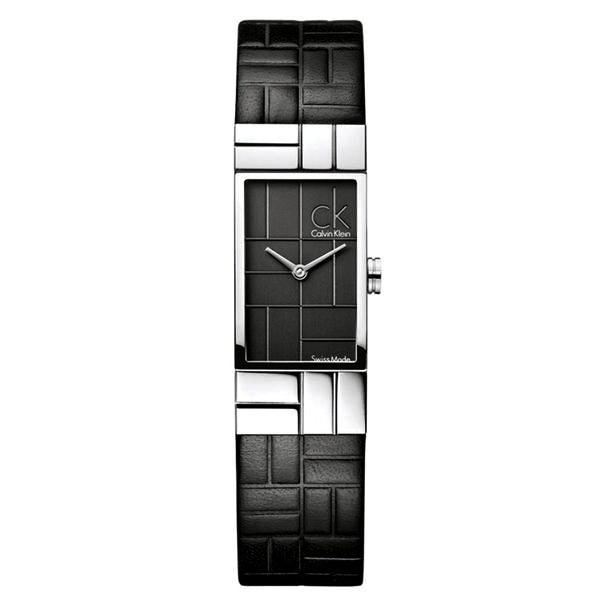 Cobblestone Black Dial Stainless Steel Ladies' Watch