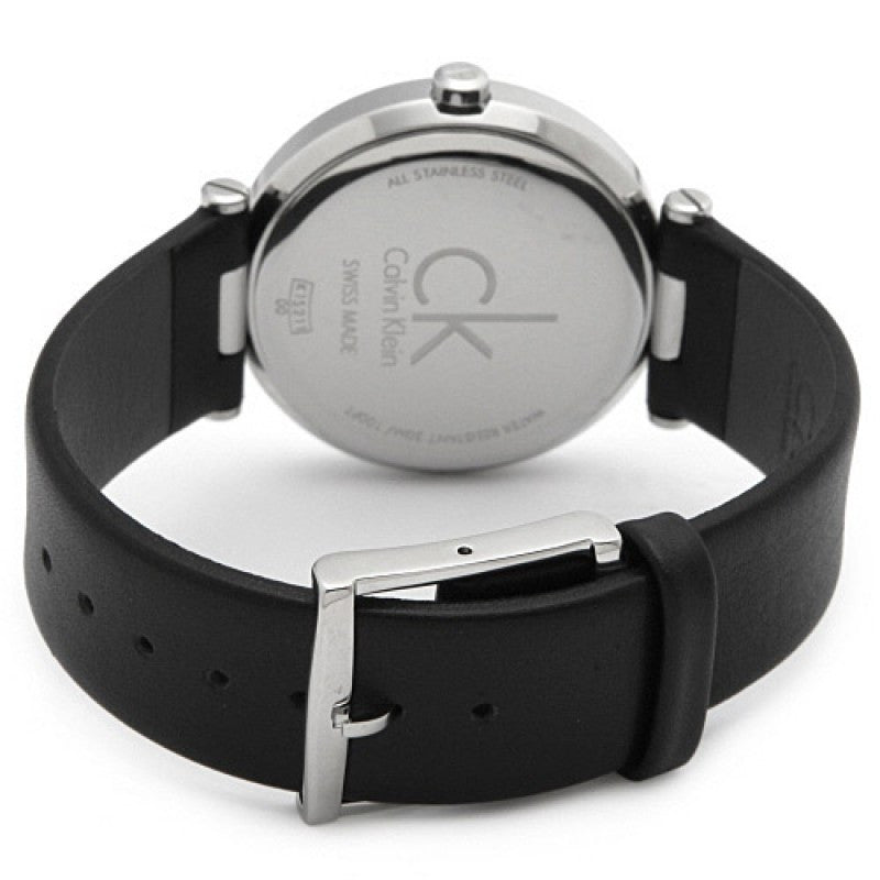 Sight Black Leather Mens Watch