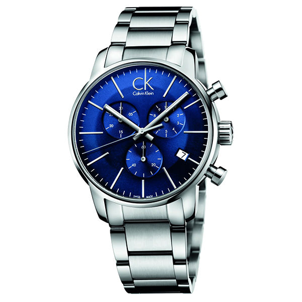City Chronograph Blue Stainless Steel Men's Watch