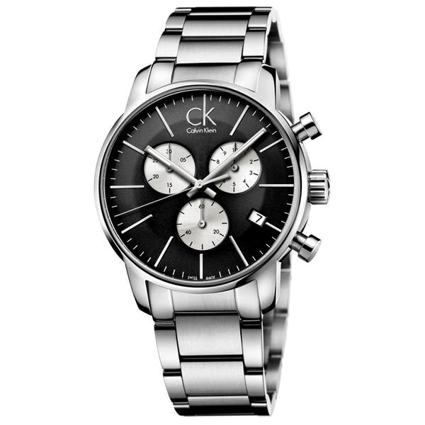 City Chronograph Black Stainless Steel Men's Watch