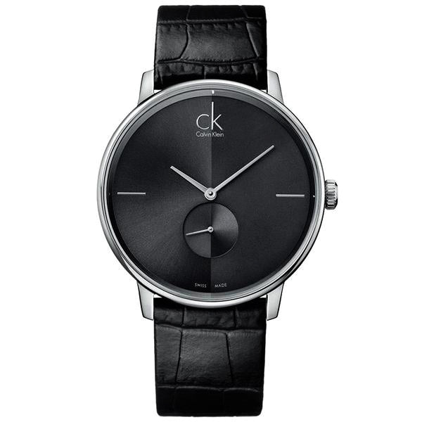 Accent Black Leather Men's Watch