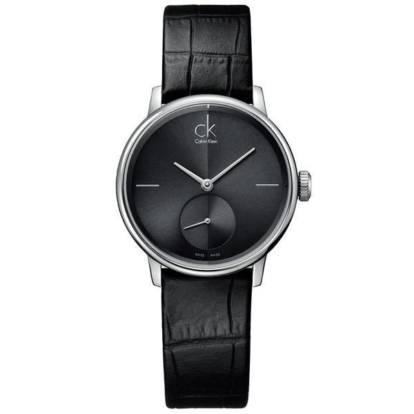 Accent Black Leather Ladies' Watch