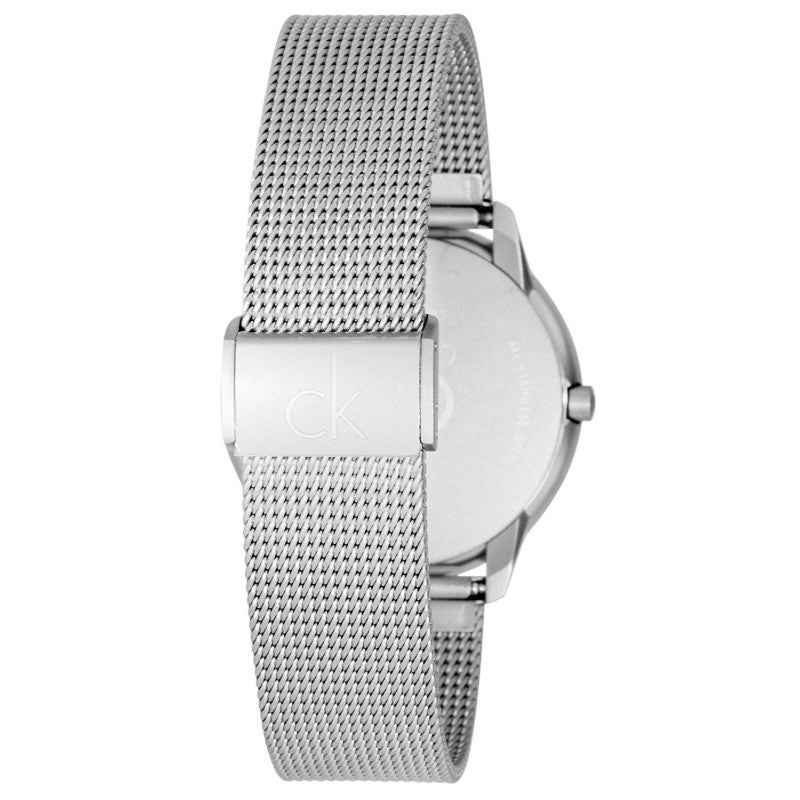 Minimal 40mm Silver Dial Mens' Watch