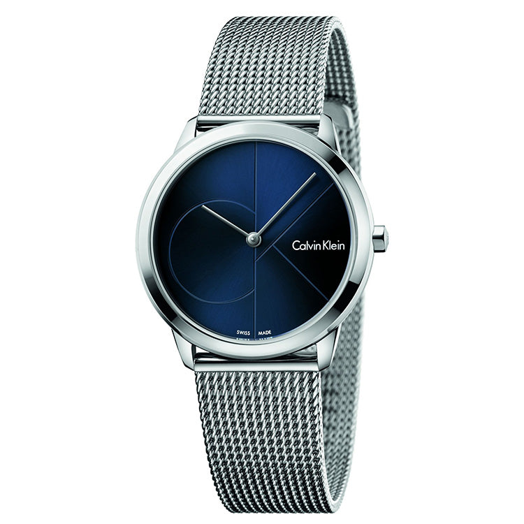 Minimal 35mm Blue Dial Stainless Steel Unisex Watch