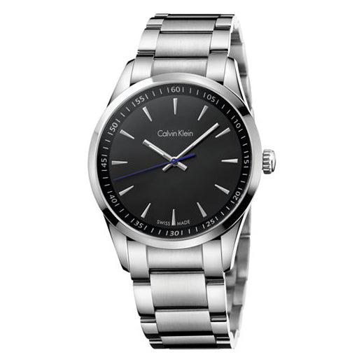 Bold Black Dial Men's Watch