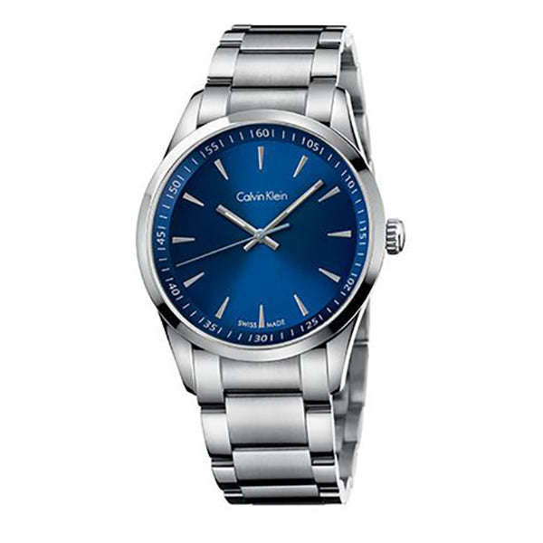 Bold Blue Dial Men's Watch