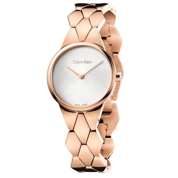Snake Rose Gold Tone Stainless Steel Ladies' Watch