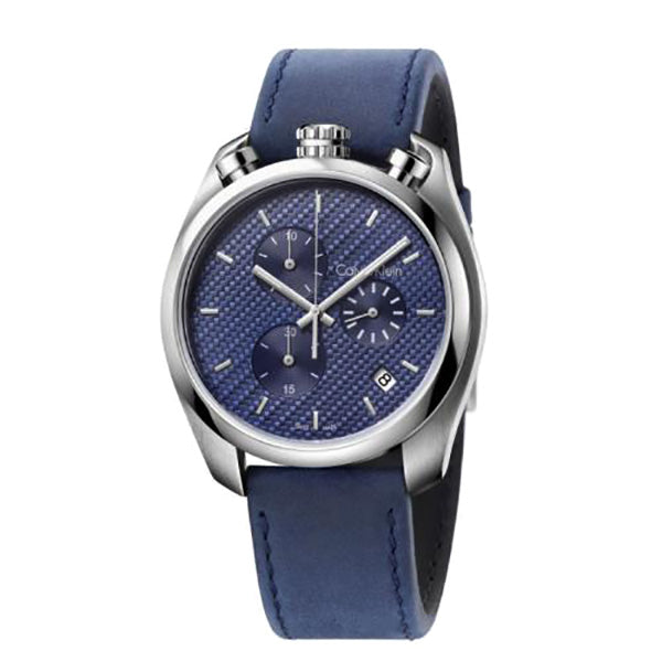 Control Blue Leather Chronograph Men's Watch