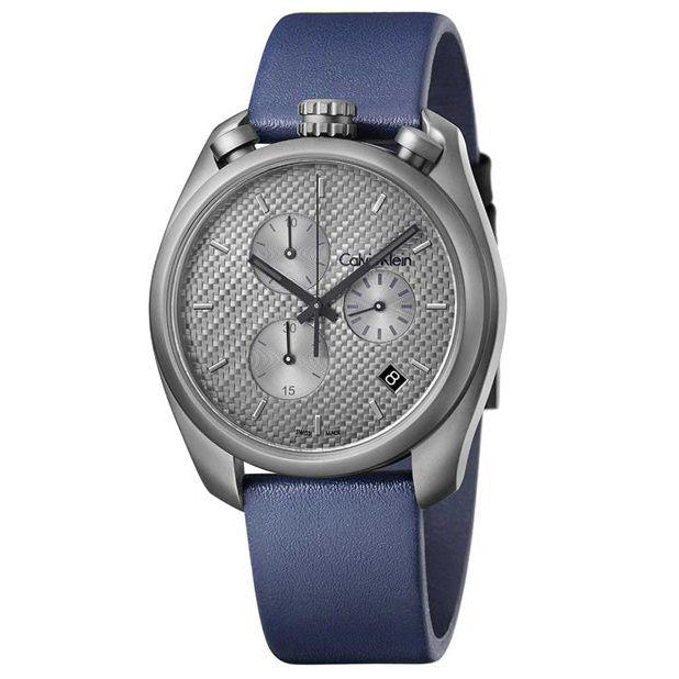 Control Blue Leather Anthracite Dial Chronograph Men's Watch