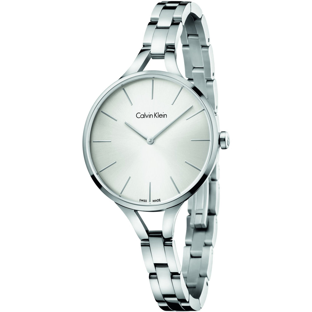 Graphic Stainless Steel Silver Dial Ladies' Watch