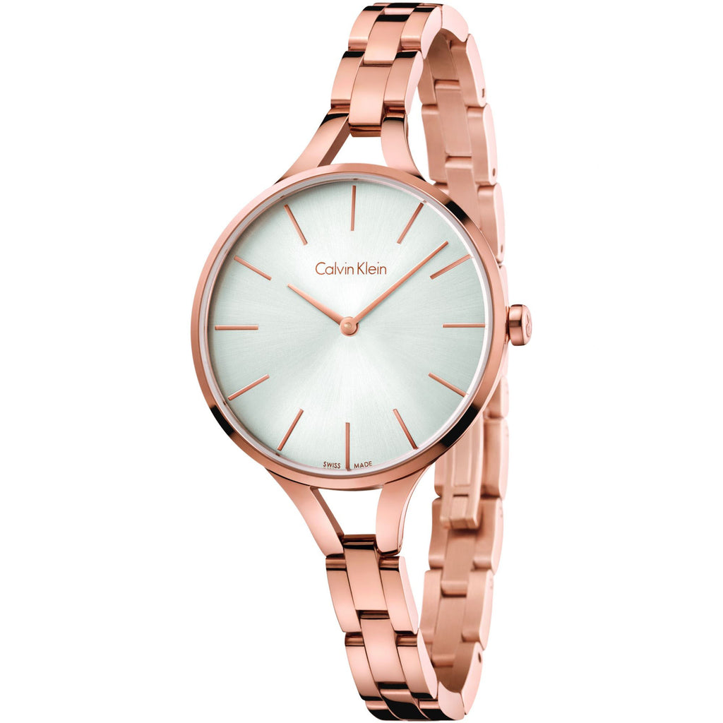 Graphic Rose Gold Tone Stainless Steel Ladies' Watch