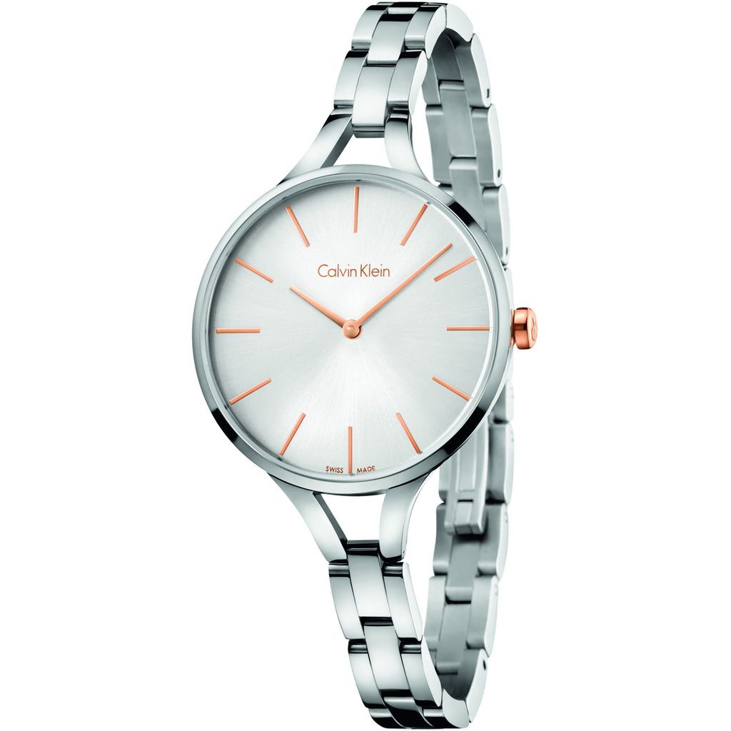 Graphic Stainless Steel Ladies' Watch